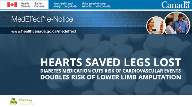 MedEffect e-Notice from Health Canada | Cardiovascular Events vs Amputation