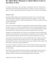 Microsoft Word - Dr. Rona Rebuttal to Adam Gibson.doc