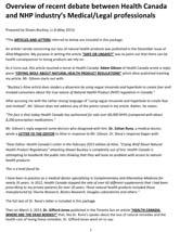 Overview of recent debate between Health Canada for June 2013 MP