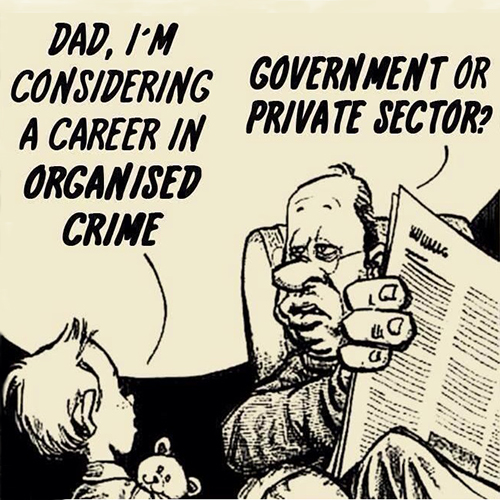 Dad, I'm Considering a Career in Organised Crime Website 500 x 500