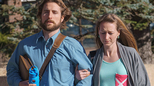 David Stephan and his wife Collet Stephan arrive at court on March 10, 2016, in Lethbridge, Alberta. The Stephans are on trial for failing to provide the necessities of life to their 19-month-old son, Ezekiel, who died in March 2012.THE CANADIAN PRESS / David Rossiter